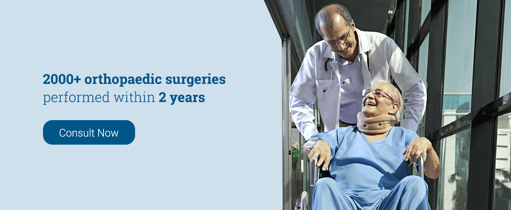 2000+ Orthopaedic surgeries performed within 2 years