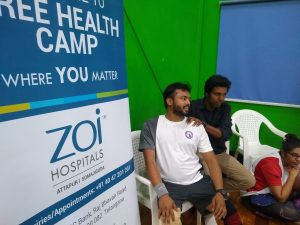 Physio consultation by ZOI Hospitals at Flying Lotus Shuttle Court
