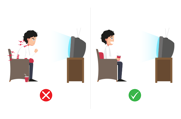 sitting bent posture