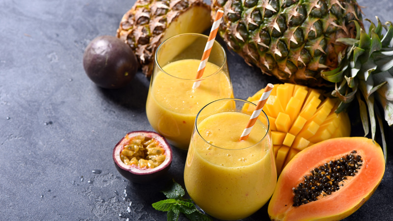 Diet after a knee replacement surgery - Pineapple and Papaya