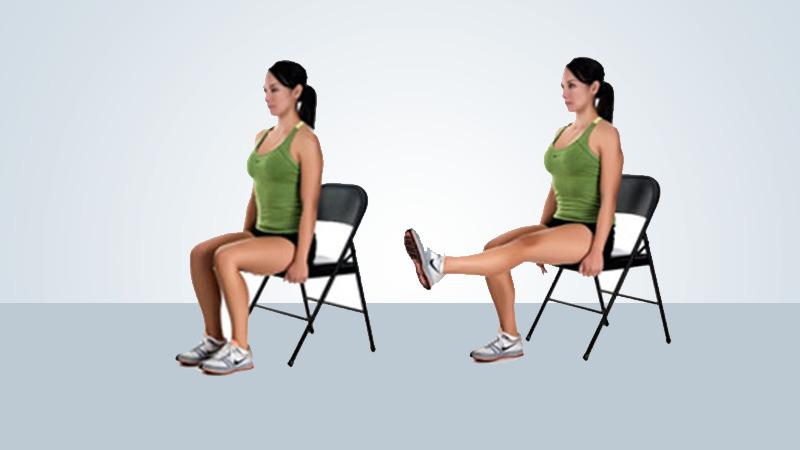 Knee replacement exercises - Sitting kicks