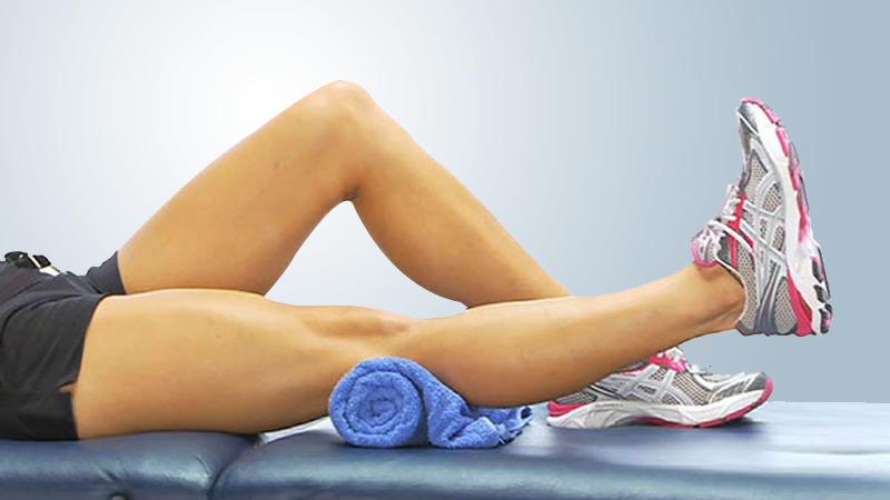 Knee replacement exercises -Thigh squeezes (quadriceps sets)