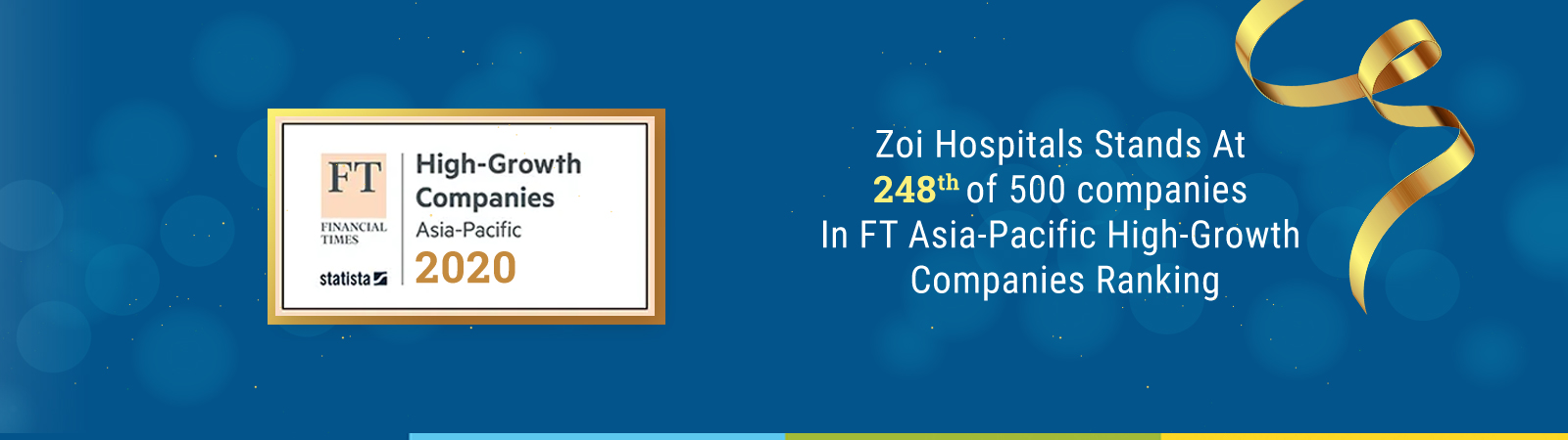 Zoi Hospitals Stands At 248 In FT Asia-Pacific High-Growth Companies Ranking